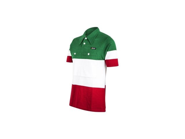 Santini Eroica 60s Campione Italia Polo Short Sleeve Jersey Heritage Series click to zoom image