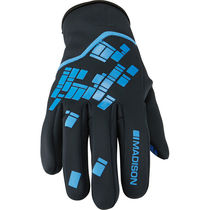 Madison Element youth softshell gloves, black / blue