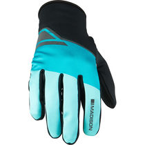 Madison Sprint men's softshell gloves, blue curaco blocks