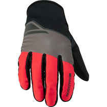 Madison Sprint men's softshell gloves, flame red blocks