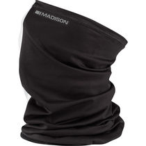 Madison Isoler Microfiber neck warmer, black hoops one size