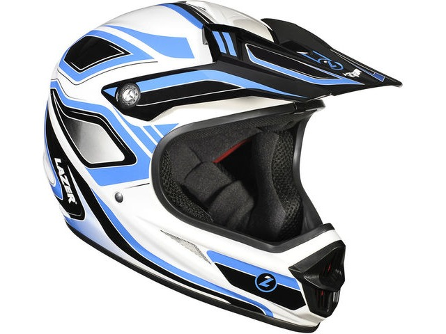 Lazer Phoenix Full Face Downhill BMX Helmet-Blue/White click to zoom image
