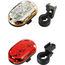Infini Lighting twinpack, Vista 1 front with Vista 5 LED rear, batteries included