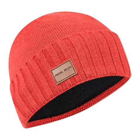Pearl Izumi Unisex Knit Beanie Hat, Torch Red, One Size click to zoom image