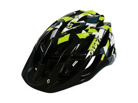 Scott Spunto Junior Mountain Bike Helmet-Black/Lime Green
