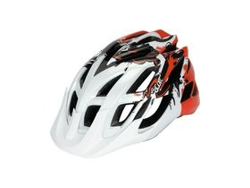 Scott Spunto Junior Mountain Bike Helmet-White/Red