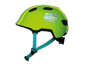 Scott Chomp Toddler Cycle Helmet - Green Stripe