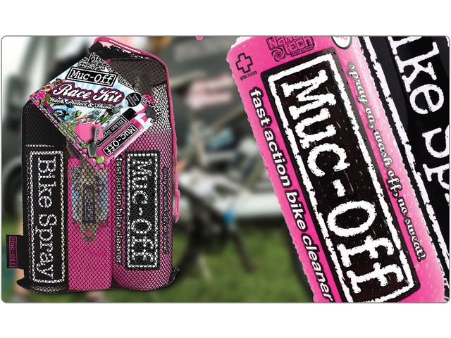 Muc-Off Race Kit: Bike Cleaner 1Ltr, Bike Spray, Cleaning Brush & Sp click to zoom image